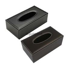 PU Leather Tissue Box Cover Napkin Toilet Paper Holder Case Home Car Tissue Box