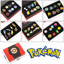8Pcs/Set Pokemon Badges Anime Cosplay Kanto Club League Gym Badge Pin Brooch Box