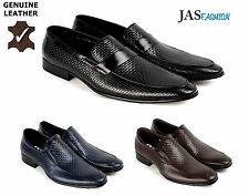 Men Leather Slip On Shoes Smart  Dress Wedding Office Formal Casual Loafers Size