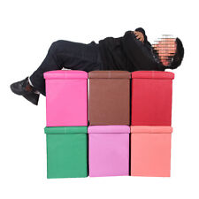 Multifunction Foldable Ottoman Bench Seat Footstool Rest Sofa Storage Toy Box