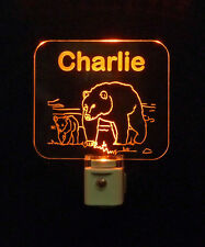 Personalized LED Night Light with Bears - Lamp