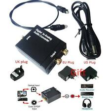 UK Digital Optical Coaxial Toslink Signal to Analog Audio Converter Adapter RCA