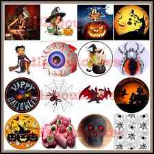 A4 & 7.5 '' HALLOWEEN '' Party Edible Icing & Rice Paper Cake & Cupcakes Toppers