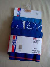 """3 pack ENGLAND  3 LIONS BOYS BOXERS BLUE  -AGE 7/8 - 9/10 - 11/12 - W28"""" - W30"""""""