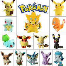 Pokemon Character Pikachu Squirtle Eevee Soft Plush Doll Stuffed Animal Toy Cute
