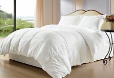 LUXURY 600TC 300GSM FIBER FILL 1PC COMFORTER WHITE SOLID 100% EGYPTIAN COTTON
