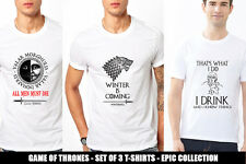 GAME OF THRONES TShirts TV Series MEN T-Shirt Set of 3 Tees Winter is Coming