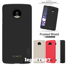 For Moto Z Nillkin Matte Frosted Shield Back Cover Skin Case + Screen Protector