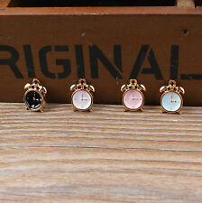 Cute 20PCS Gold Tone Enamel Watch Alloy Charm Pendant DIY Jewelry Making 12x13mm