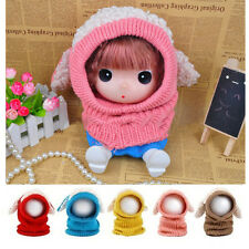 Dog Knitted Crochet Cloak Hooded Hat Cap Scarf Set New Winter Warm Baby