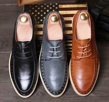 New Mens Urban Oxford Dress Leather Lined Pattern WingTip Shoes British Casual