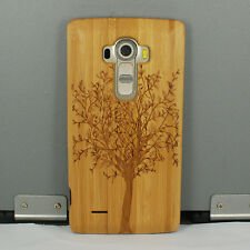 Genuine Tree Natural Real Bamboo Wood Wooden Hard Cover Case for LG G4 G3 G2