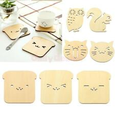 Wooden Carved Coaster Cute Animal Shaped Cup Mat Tea Drinks Mug Holder Pad Home