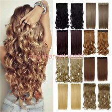 Fashion Ombre One Piece Full Head Clip in on Hair Extensions Long Thick As Human