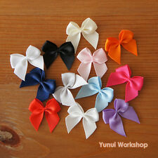12 colors Small Ribbon Bow Embellishment Cute Pastel Cool Sweet Sewing DIY