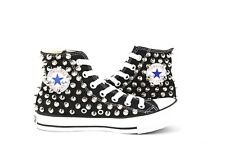 Black Studded Converse All Star Chuck Taylor Spike Studs Sneakers Punk Rock shoe