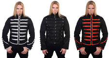 Men Black Parade Military Marching Banned Drummer Jacket Goth Punk Emo Handmade