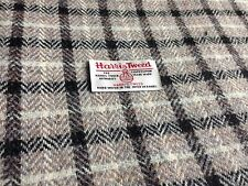 Harris Tweed Fabric & labels 100% wool Black & White check - ideal for crafts