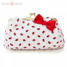 Hello Kitty Coin Wallet Case Bag Purse Makeup Pouch Cosmetic Made in Japan S5460