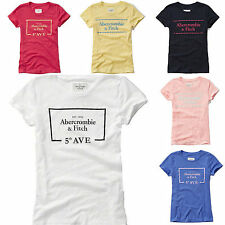 New Abercrombie By Hollister Women's Graphic Slim Fit T Shirt Size XS S M L Nwt