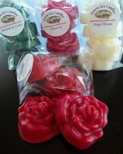 Rose Shape Soy Paraffin Tart Wax Melts Citrus Scents 1/2 lb Mother's Day Gifts