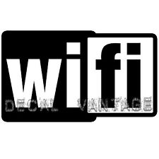 Wifi Logo Square Vinyl Sticker Decal - Choose Size & Color