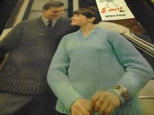 "Emu His and Hers Classic V Neck Sweater Knitting Pattern 32-44"" (4186)"