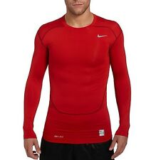 Nike Pro Core Red Long Sleeve Compression T-Shirt - Brand new with tags - Large