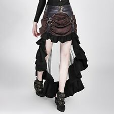 Punk Rave Dolly Steampunk Pinstripe Skirt [Special Order] - Gothic,Goth,Black,Br