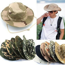 Bucket Hat New Hunting Boonie Cap Outdoor Camo Fishing Military Wide Brim B HYPG