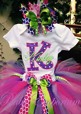 Personalized Name with Initial Little Girl Toddler Onesie Tutu FREE Hair Bow
