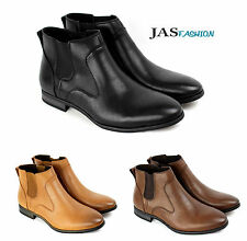 Mens Casual Chelsea Smart Ankle Boots Italian Dress Shoes Size 6 7 8 9 10 11 JAS