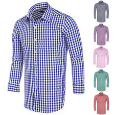 Casual Mens Shirt Button-Front Long Sleeve Stylish Slim Fit Plaid Shirts Luxury