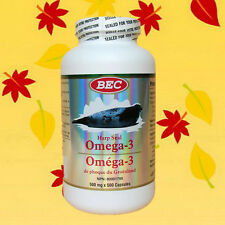 BEC Harp Seal Omega-3 Oil 500mg 500 Softgel (Ship from USA)