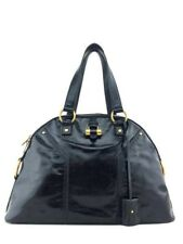 Yves Saint Laurent Patent Leather Large Muse Bag