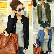 Women's Business Suit Blazer Slim Fit Short Casual Double Breasted Jacket Coat