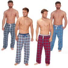 Mens Cargo Bay Yarn Dyed Flannel Check Lounge Pants With Jersey Waist Band