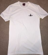 Mens Vivienne Westwood Orb Fitted T-Shirt, White Size Medium. WORN ONCE.