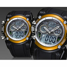OHSEN Sport Watch Digital-Analog Quartz Date Alarm Mens Military Army Wristwatch