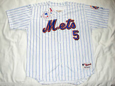 New York Mets David Wright Majestic Mens Size 52 White Pinstripe Jersey New/Tags