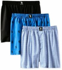 U.S. Polo Assn. US6172 POLO ASSN. Mens 3-Pack Assorted Woven Boxers