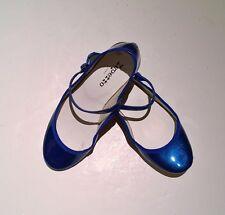 NIB Repetto Ballerina Ballet Shoes New Lio Blue Saphir Sparkle Patent Mary Jane