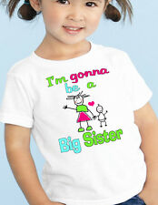 "New BABY Announcement T-Shirt ""Gonna be a BIG SISTER"" Sibling Tee"