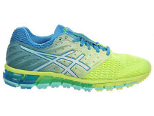 NEW WOMENS ASICS GEL-QUANTUM 180 2 RUNNING SHOES TRAINERS SAFETY YELLOW / WHITE