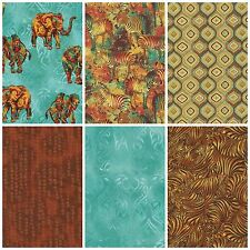 Tribal Instincts by Ro Gregg June 2015 Collection Fabri-Quilt Elephant Zebra