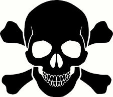 SKULL & CROSSBONES VINYL STICKER LAPTOP CAR TRUCK WINDOW DECAL PICK A SIZE/COLOR