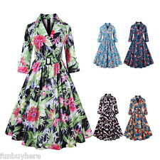 Women Swing 50s 60s Retro Housewife Pinup Vintage Rockabilly Party Evening Dress