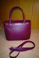 Ladies Furla Candy Bag With Shoulder Strap, Oxblood Red. Used V Good Condition.