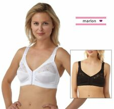 Ladies Womens Front Fastening Soft Cup Bra Non Wired 34 to 48 B C D DD E | 597