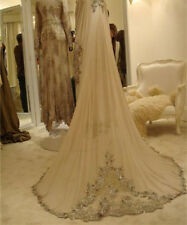 Custom Veil Champagne/White/Ivory Applique Beaded Bridal Wedding Veils With Comb